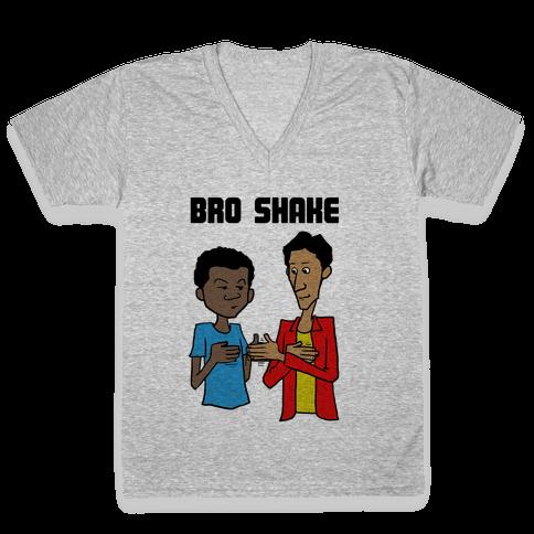 Bro Shake V-Neck Tee Shirt
