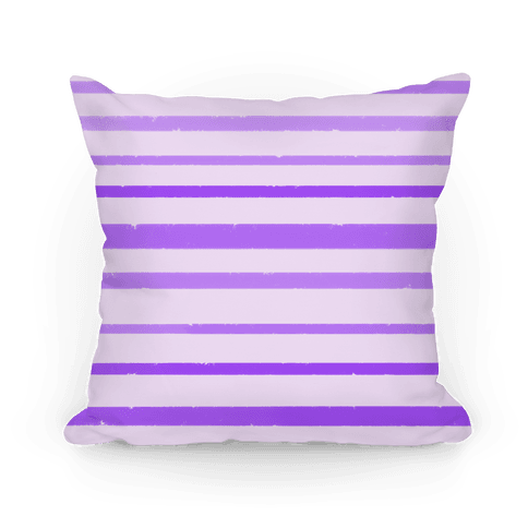Purple Watercolor Stripe Pattern Pillow