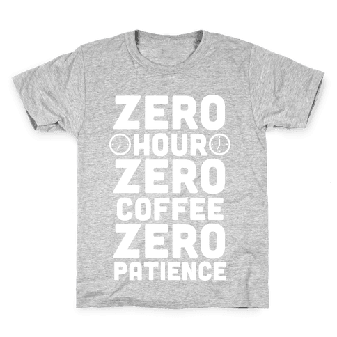 Zero Hour (White Ink) Kids T-Shirt