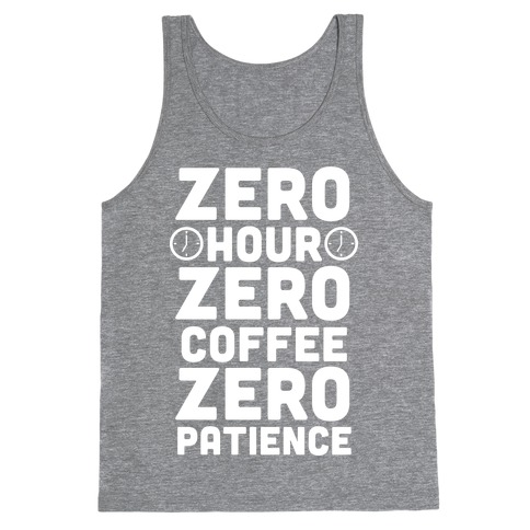 Zero Hour (White Ink) Tank Top