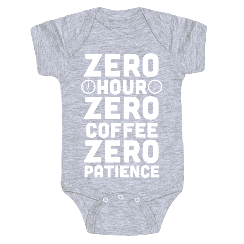 Zero Hour (White Ink) Baby Onesy