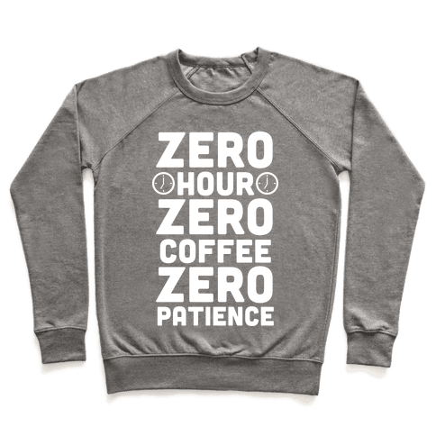 Zero Hour (White Ink) Pullover