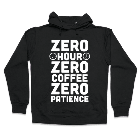 Zero Hour (White Ink) Hooded Sweatshirt