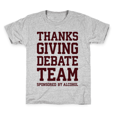 Thanksgiving Debate Team Kids T-Shirt