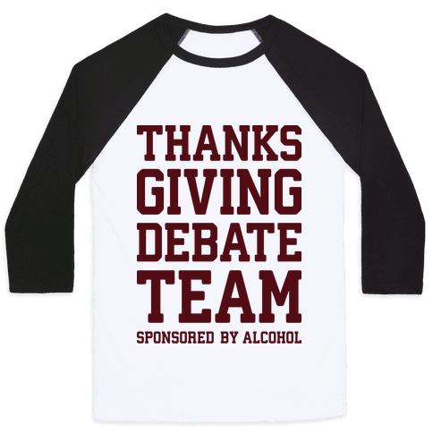 Thanksgiving Debate Team Baseball Tee