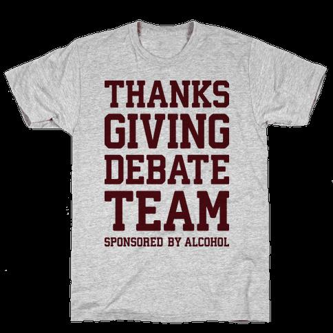Thanksgiving Debate Team Mens T-Shirt
