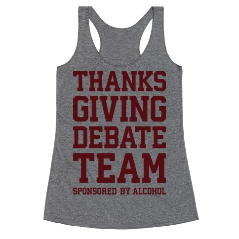 Thanksgiving Debate Team Racerback Tank Top