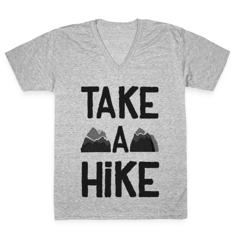 Take a Hike V-Neck Tee Shirt