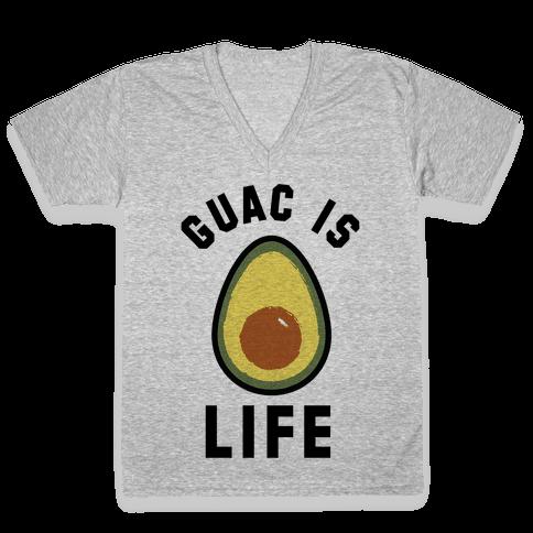 Guac is Life V-Neck Tee Shirt