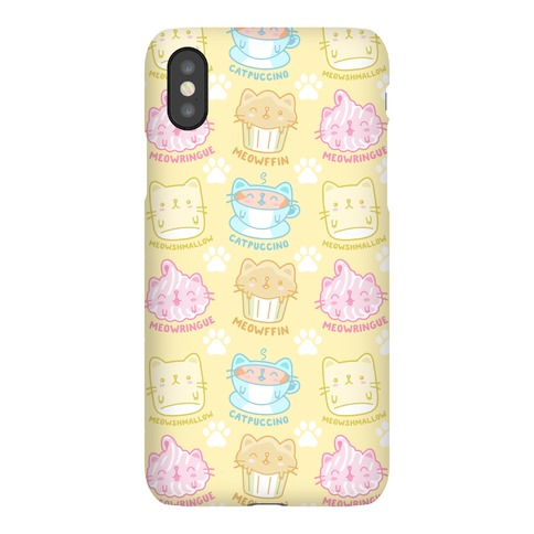 Cute Cat Snacks Pattern Phone Case