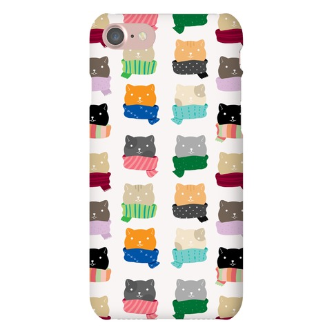 Cats In Scarfs Pattern Phone Case