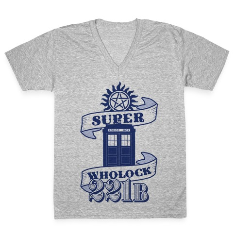 Superwholock Icons V-Neck Tee Shirt