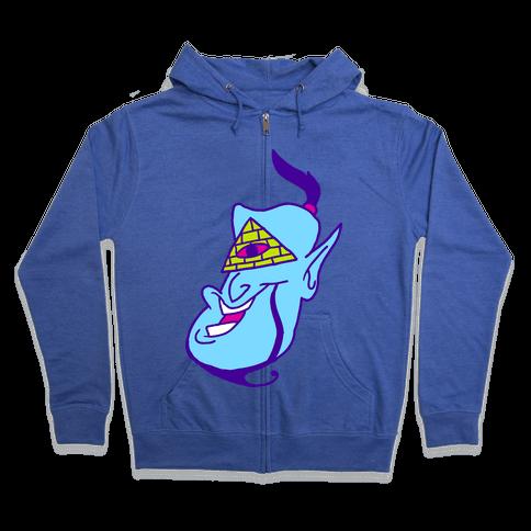 Illuminati Genie Zip Hoodie
