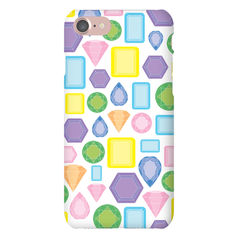 Pastel Gem Pattern Phone Case