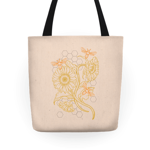 Honeybees & Sunflowers Tote