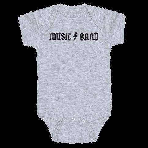 Music Band (Vintage) Baby Onesy