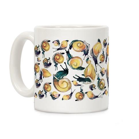 Golden Snail Shells Coffee Mug