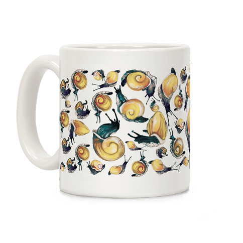 Golden Snail Shells Coffee Mug