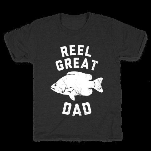 Reel Great Dad (White) Kids T-Shirt