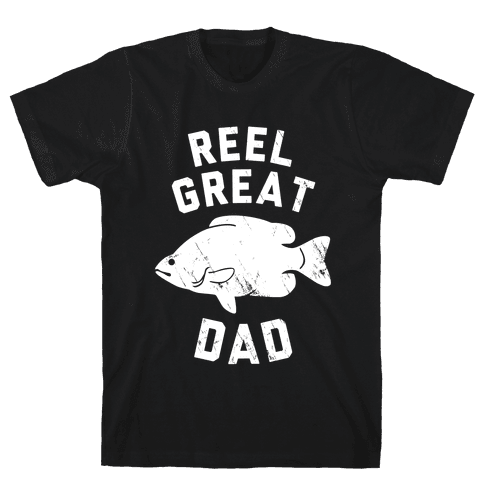 Reel Great Dad (White) Mens T-Shirt