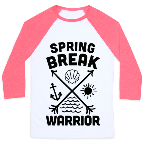 Spring Break Warrior Baseball Tee