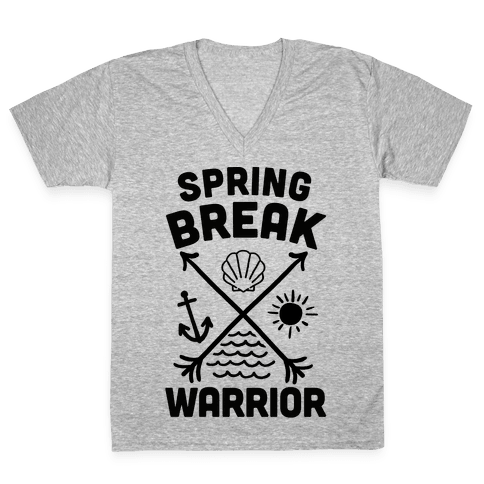 Spring Break Warrior V-Neck Tee Shirt
