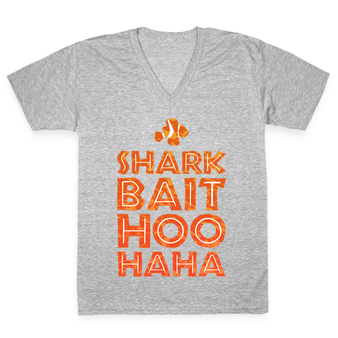 Shark Bait Hoo Haha V-Neck Tee Shirt