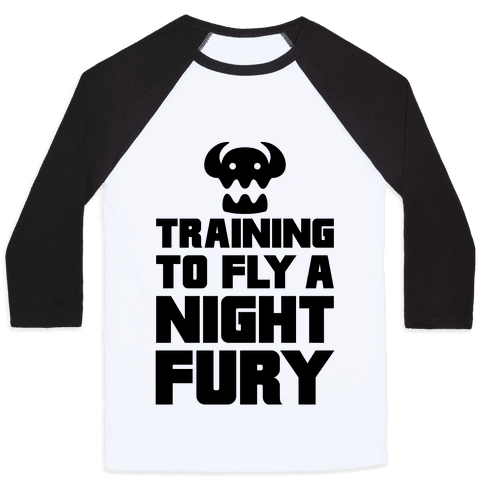 Training To Fly A Nightfury Baseball Tee
