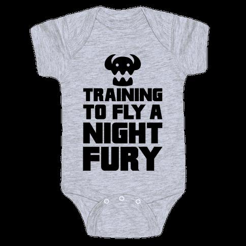 Training To Fly A Nightfury Baby Onesy