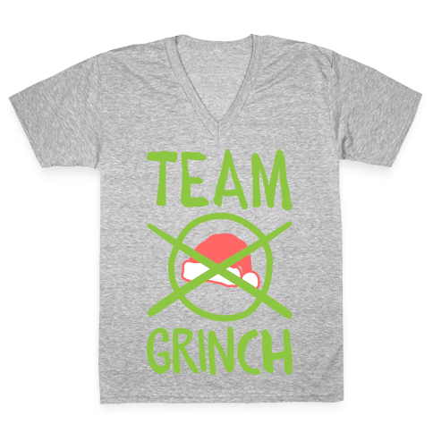 Team Grinch V-Neck Tee Shirt