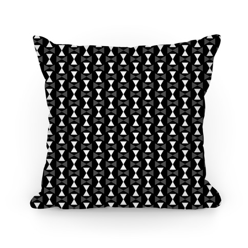 Black and White Geometric Pattern Pillow