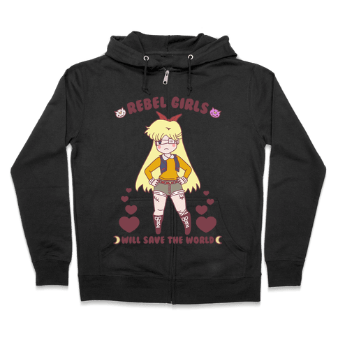 Rebel Girls Will Save The World Venus Parody Zip Hoodie