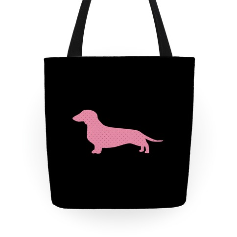 Polka Dot Wiener Dog Tote