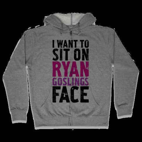 Ryan's Face Zip Hoodie
