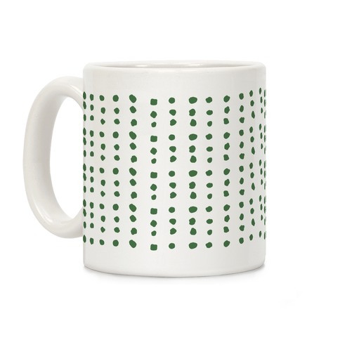Polka Dot Chive Minimalist Boho Pattern Coffee Mug