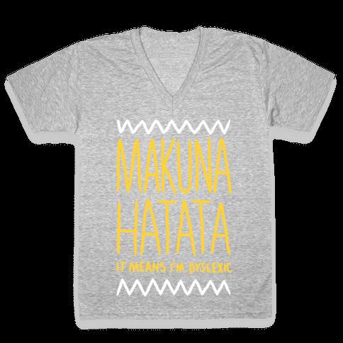 Makuna Hatata V-Neck Tee Shirt