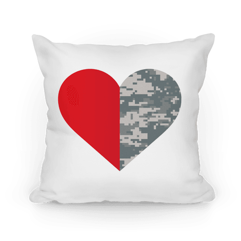Half My Heart Is In The Military Pillow Pillow