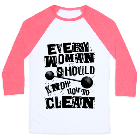 Every Woman Should Know How to Clean Baseball Tee