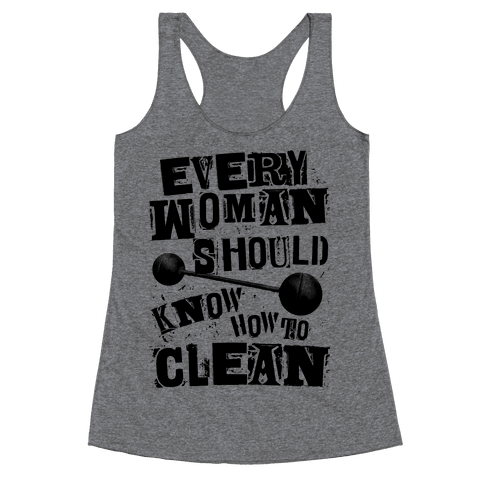 Every Woman Should Know How to Clean Racerback Tank Top