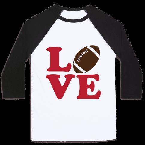 Love Football Baseball Tee