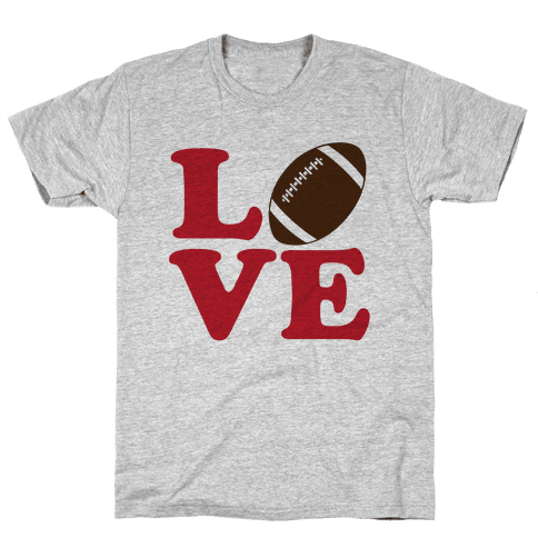 Love Football Mens T-Shirt