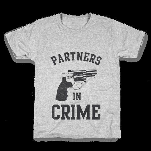 Partners in Crime Vintage (Left) Kids T-Shirt