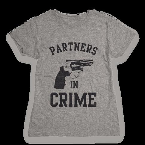 Partners in Crime Vintage (Left) Womens T-Shirt