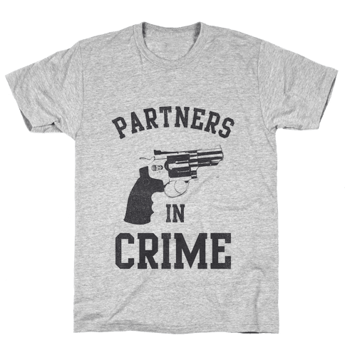 Partners in Crime Vintage (Left) Mens T-Shirt