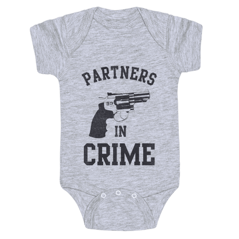 Partners in Crime Vintage (Left) Baby Onesy