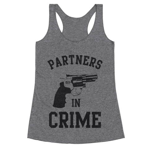 Partners in Crime Vintage (Left) Racerback Tank Top
