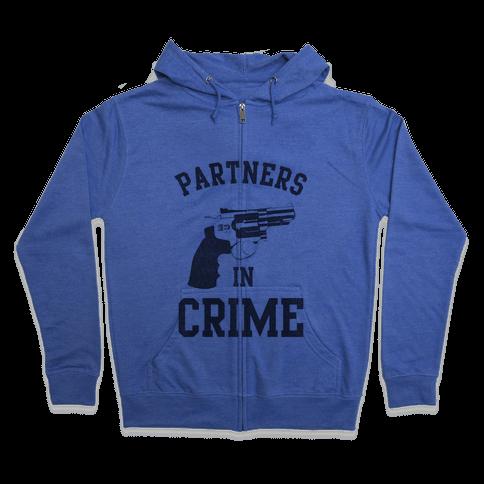 Partners in Crime Vintage (Left) Zip Hoodie