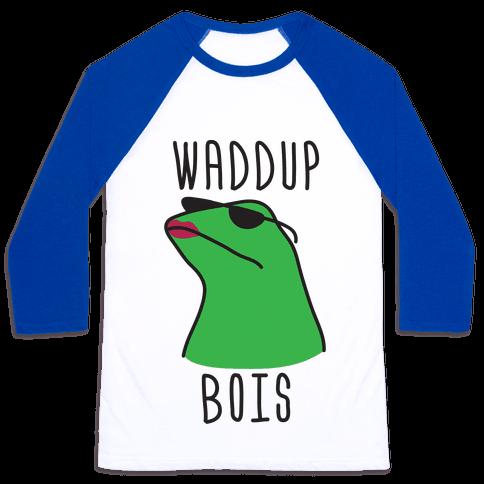 Waddup Bois Baseball Tee