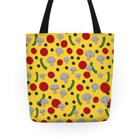Pizza Topping Pattern Tote