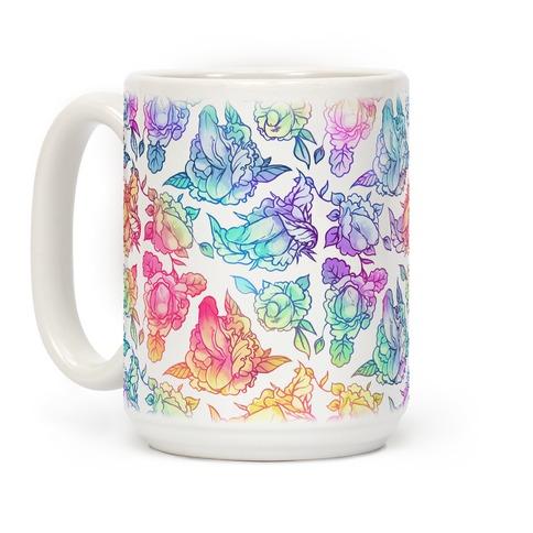 Floral Penis Rainbow Coffee Mug
